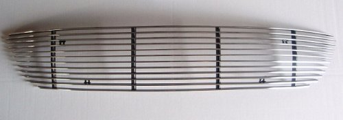MaxMate 04-06 Mazda 3 Hatchback Bolton Lower Bumper 1PC Horizontal Billet Polished Aluminum Grille Grill Insert