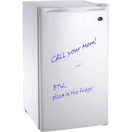 Igloo FR326-WHITE Erase Board Refrigerator with Neon Markers, 3.2 cu. ft., White by Igloo`