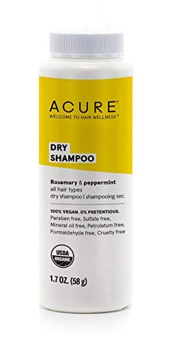 ACURE Dry Shampoo - All Hair Types | 100% Vegan | Certified Organic | Rosemary & Peppermint - Absorbs Oil & Removes Impurities Without Water | 1.7 Fl Oz 1
