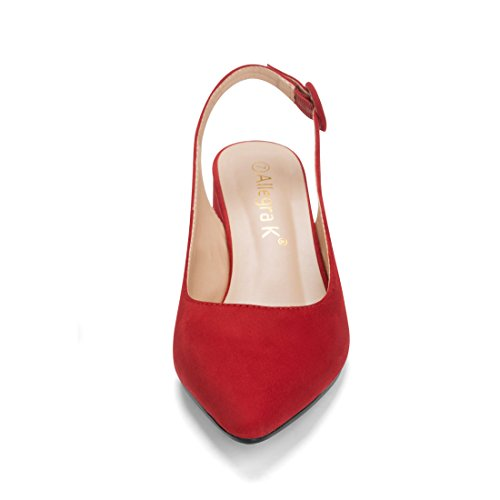 K Women's Allegra Pointed Slingback Pumps Red Toe UfOfwq