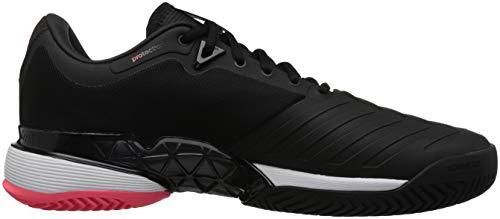 official photos 317af 85b8c adidas Mens Barricade 2018 Tennis Shoe, BlackBlackFlash Red, 7.5 M