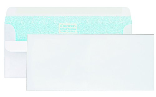 Columbian CO296 (#10) 4-1/8x9-1/2-Inch Self-Seal Security Tinted White Envelopes, 500 Count by Columbian Envelopes