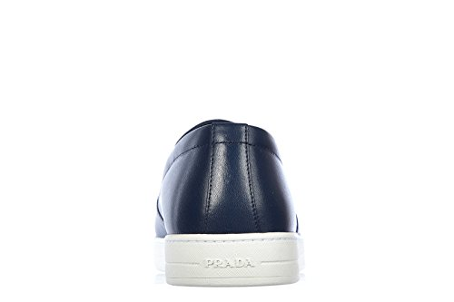 Prada The Gentleman Conduce Slip On Drops Sneakers Scherzando Plume Blu