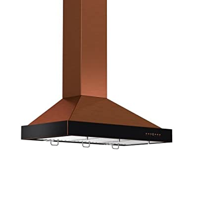 Zline KB2-42 Classic 760 CFM 42 Inch Wide Outdoor Approved Wall Mounted Range Ho, Copper / Oil-Rubbed Bronze