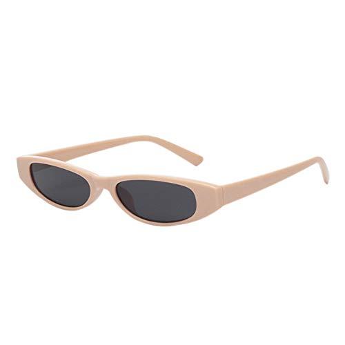 Gafas Beige anti de Lente ojos estrecho estilo Hzjundasi UV400 marco ojo Gafas plástico de de de Puente gato color gato Gafas de de de sol de con Gris UV Uw7TqPxpRT