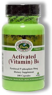 Daily Manufacturing Activated Vitamin B6 100 Veggie Capsules by Daily Manufacturing