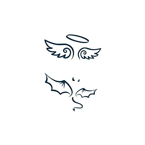 New Hot Design Tatoo Waterproof Temporary Tattoo Stickers For Adults Body Art Angel Devil Wings Fake Tattoo For Man Woman 10.56Cm -