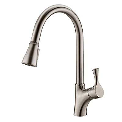APPASO Single-Handle Magnetic Docking Kitchen Faucet with Pull Down Sprayer, High Arc Pull Out Spray Head Kitchen Sink Faucet with Deck Plate