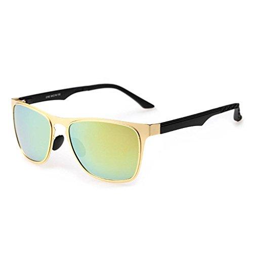 la las de unisex de Gafas gafas de protección de vidrios inoxidable 3 sol lentes manera polarizadas Coolsir UV400 Marco acero 6FwqnROT