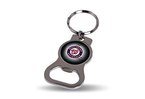(Rico MLB Nationals Bottle Opener Key Tag, 4 x 3, Logo Color)