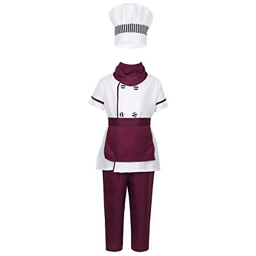 iEFiEL Kids Boys Girls' Chef Costume Outfits Short