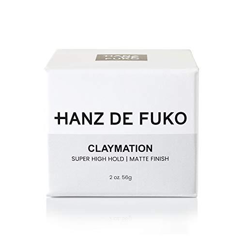 Hanz de Fuko Claymation- Premium Mens Hair Styling Clay with Matte Finish (2 oz) Cruelty Free 3