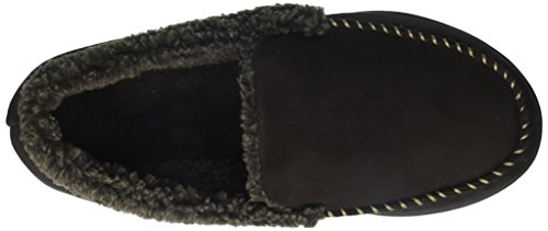 Men's Whipstitch with Suede Dearfoams Wide Detail Coffee Moccasin Width 7wdWqHP