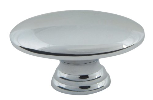 Atlas Homewares A817-CH 1-1/2-Inch Euro-Tech Collection Small Egg Knob, Polished Chrome ()