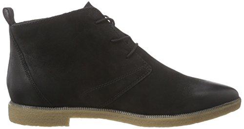 Tamaris 25131 - botas chukka de cuero mujer negro - negro