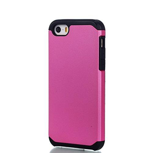Hülle Cover iPhone SE / 5 / 5S, IJIA Ultra Dünnen Weich TPU und Harte PC (2 in 1) Silikon Hülle Handyhüllen Schutzhülle Handyhülle Schale Case Tasche für Apple iPhone SE / 5 / 5S + 24K Gold Aufkleber