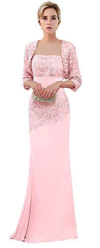 - VaniaDress Women Long Mother of The Bride Dress with Jacket Formal Gowns V263LF Pink US16