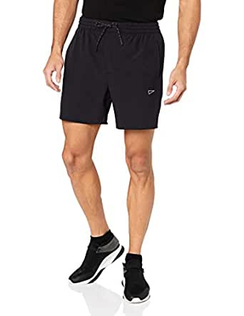"SQDAthletica Men SQD 6"" Running Short, Black, Small"