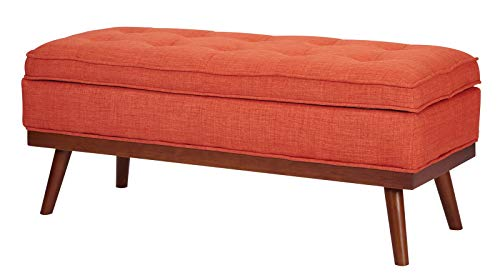 Amazon.com: Upholstered Storage Bench with Lift Top - Mid-Century ...
