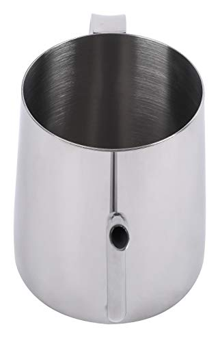 Long narrow spout coffee pot 304 stainless steel ear-hanging blunt pour coffee pot drip coffee machine suitable for coffee machine cappuccino Stainless steel cup for milk foam tank (350ml) ()