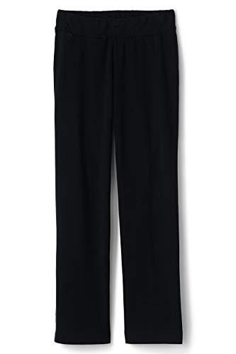 Lands' End Women's Plus Size Starfish Straight Leg Elastic Waist Pants Mid Rise, 2X, Black from Lands' End