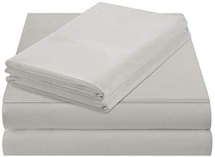 Microfiber Moisture Wicking Fabric Bedding Smart Cool Bed Sheets Set Flat Sheet Fitted Sheet and 2 Pillow Cases Cal King Sheets Ivory Incl