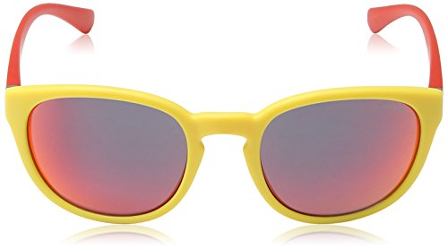 Police Lunette De Soleil S1937 Hot 2 Ovale, Yellow & Red Frame/red Mirror Lens