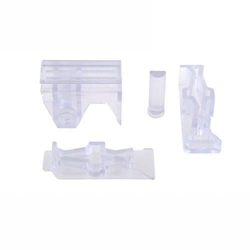 Side Rail Front (Worker Mod Front and Side Rail Adapter Picatinny Base Set for Nerf Stryfe Color Clear)
