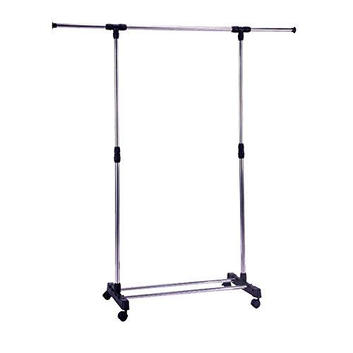Livebest Single Rod Adjustable Extendable Clothes Garment Ra