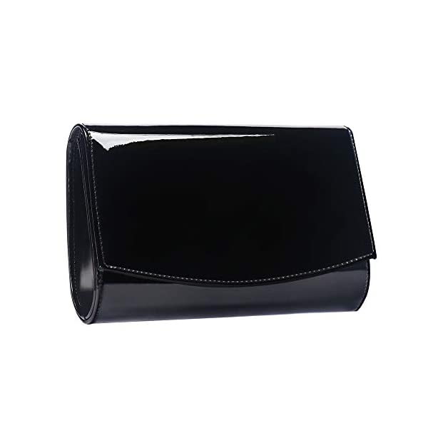 Women Patent Leather Wallets Fashion Clutch Purses,WALLYN'S Evening Bag Handbag Solid Color