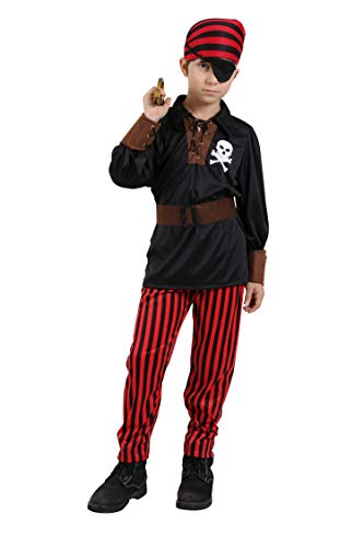 Jason Party Boys Pirate Costumes Halloween Costumes Cosplay Outfit Pirate (10-12, -