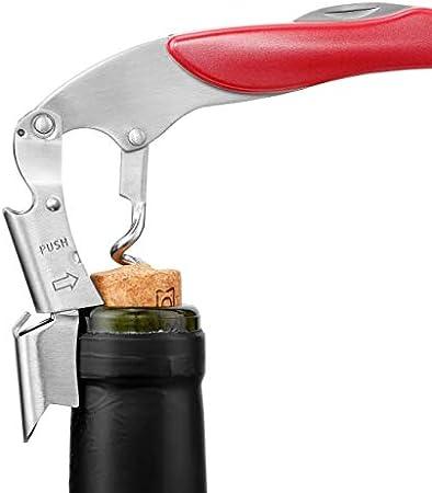 Le Creuset Sacacorchos sommelier 2 tiempos, Extrae el tapón de la botella de vino, Violeta, Policarbonato, WT130