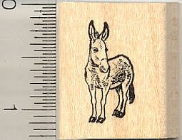 Tiny Donkey Rubber Stamp