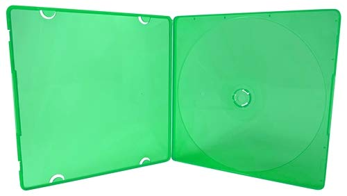 (mediaxpo Brand 50 Slim Green Color Single VCD PP Poly Cases 5MM)