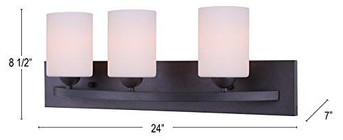 Hampton Bay 3 Light Bronze Bath Light 25107: Canarm IVL370A03ORB-O Ltd Hampton 3 Light Vanity, Oil