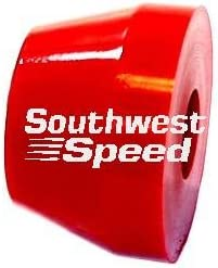 RED MEDIUM RUBBER BUSHING BISCUIT FOR MODIFIEDS NEW SOUTHWEST SPEED RACING SMALL RUBBER TORQUE LINK SPRING DUROMETER RATING OF 70 LATE MODELS AND ANY RACING APPLICATION THAT ALLOWS RUBBER TORQUE ABSORBING DEVICES 2.125 O.D