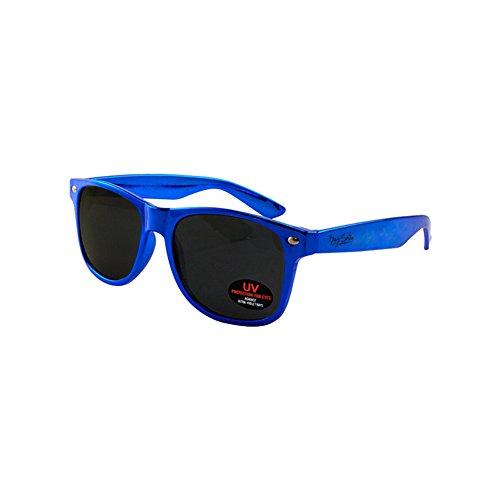 Wayfarer Sunglasses for Men, Women & Kids by Ray Solée- 3 Pack of Tinted Lenses with UVA & UVB Protection (Red,Blue,Silver, Black) by Ray Solée (Image #2)
