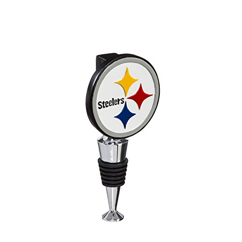 Team Sports America Pittsburgh Steelers Hand-Painted Team Logo Bottle Stopper