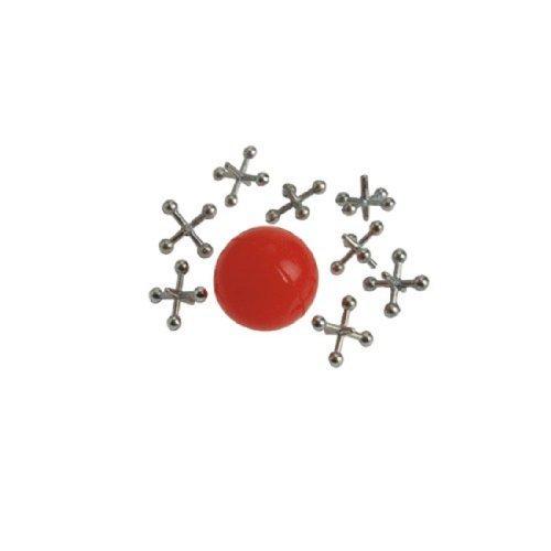 Mini Metal 9 Piece Set of Jacks & Ball