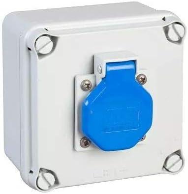 IDE 40892 Caja Estanca de derivación con Tomas de Corriente, Gris, 108mm x 108mm x 64mm: Amazon.es: Industria, empresas y ciencia
