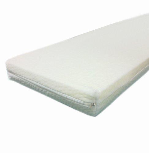 Dibapur - ca. 90cm x 200cm x 5cm - Viscoelastische Gelschaum Matratzenauflage, Visco auflage, mit Bezug