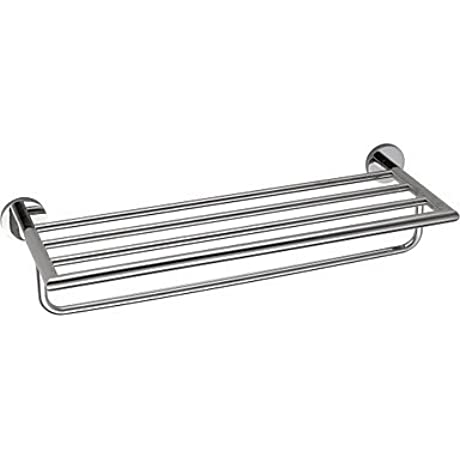 WYMBS Chrome Finish 304 Stainless Steel Bathroom Shelf With Towel Bar Bathroom Hardware Product