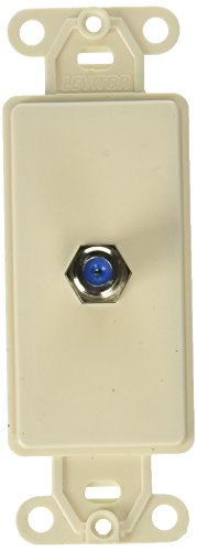 Leviton 40681-T F Connector Decora Insert, Light Almond Almond F Connectors