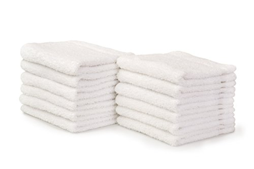 Alurri Washcloth Towel Set, 12-Pack, Extra Soft Cotton Fingertip Towels, Highly Absorbent, Machine Washable, 13'' x 13'' Mini Multi-purpose, Ideal for Gym, Spa, Face Cleansing, House cleaning. (White) by Alurri (Image #3)