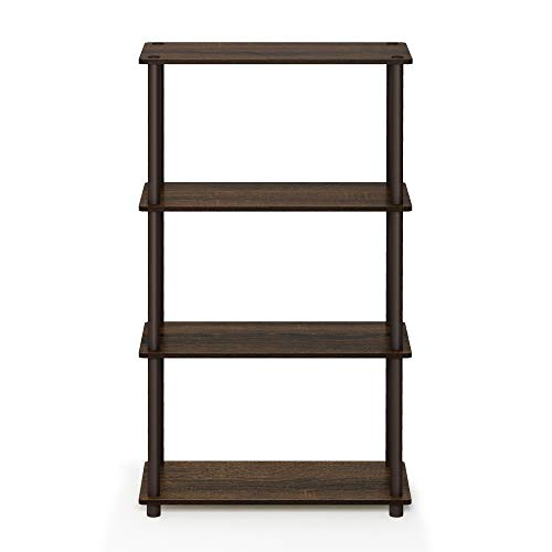Furinno 99557WN/BR Turn-N-Tube 4-Tier Display Rack, for sale  Delivered anywhere in USA