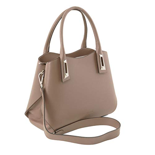 In Leather Tuscany Cognac Scuro A Talpa Borsa Mano Flora Pelle qw1wX4