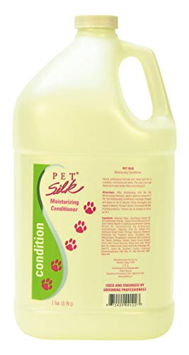 Pet Silk Moisturizing Conditioner - Conditioning for Cats, Horse & Rabbits - Dog Moisturizing Conditioner with Herbal Extracts, Vitamins, Chamomile & Rosemary - Shines & Moisturizes Coat (1 Gallon)