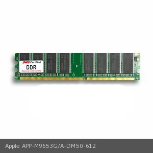 - DMS Compatible/Replacement for Apple M9653G/A 512MB DMS Certified Memory DDR PC3200 400MHz 64x64 CL3 2.6v 184 Pin DIMM - DMS