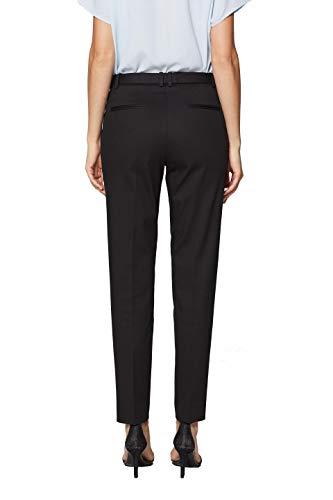 black 001 Mujer Esprit Pantalones Negro Para Collection wcztYqtX