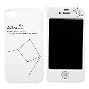 Libra Pattern Hard Full Body Case for iPhone 4/4S